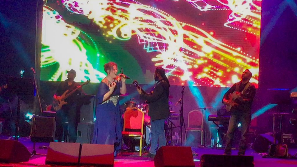 Swiss & Omani musicians perform together on 48th Oman National Day at City Amphitheater Qurum in Muscat