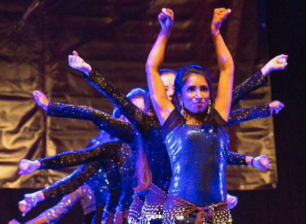 Basel based Lotus dance group appearing at show from 'Opera Pop' duo Dust of Soul