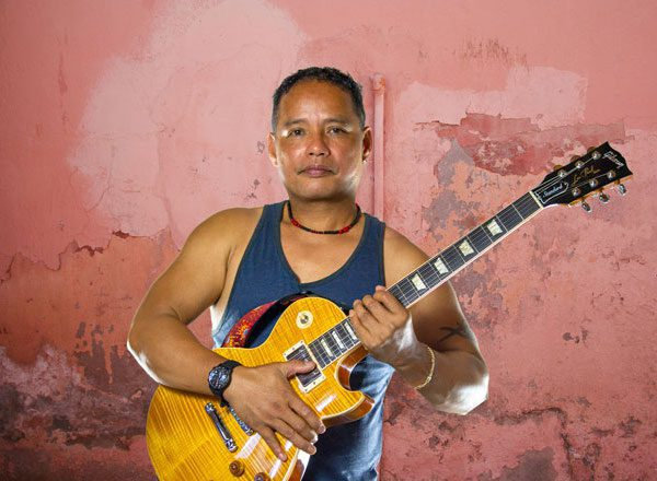 Filipino Guitarist Mike Capa (Miguelito Capa) performing with 'Opera Pop' duo Dust of Soul