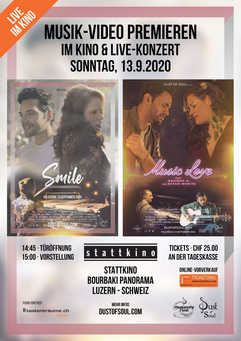 Music video premieres at the cinema & live concert