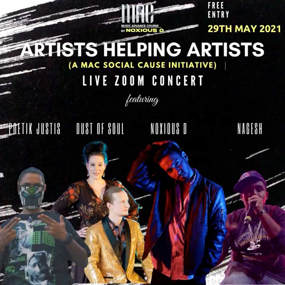Artists Helping Artists Live Zoom Concert
